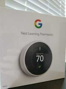 Nest T3017US 3rd Generation Programmable Smart Learning Thermostat - White  NEW