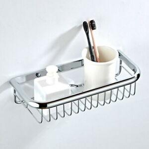 Polished Chrome Wall Mounted Bathroom Shower Storage Caddy Shelf Basket