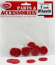"Guillows 1"" Red Plastic Wheels For Hobby Craft Repair Model Airplane Car Toys"