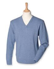 Jersey de hombre azul 100% lana