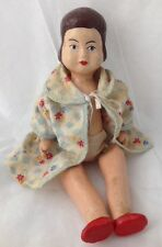"Vintage All Composition Doll Unsigned 11"" As Is"