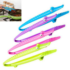 Best Silicone Cooking Kitchen Tongs Food BBQ Salad Bacon Steak Bread Clip Clamp