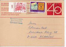 Suiza Entero postal circulado año 1980 (DE-746)