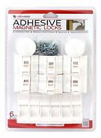 CALLOWESSE TODDLER CHILD SAFETY MAGNETIC LOCK'S X6 & 2 KEYS DUAL FIXING - NEW