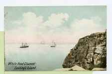 VINTAGE UDB 1909 Postcard ~ White Head Channel ~ CUSHINGS ISLAND, MAINE