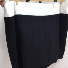 Lane Bryant Women's Skirt Colorblock Black with White Waist Plus Size 28   R5
