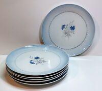 Bing Grondahl Kjobenhavn Cornflower Blue Edge Denmark Dinner Plates Set Of 6
