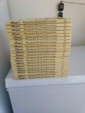 1973 Walt Disney's Wonderful World Of Knowledge Set Of 1-20 Books Lot so cool!