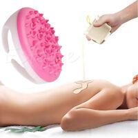 New Handheld Bath Shower Anti Cellulite Full Body Massage Brush Slimming Beauty