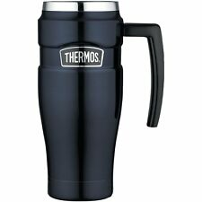 THERMOS STAINLESS STEEL INSULATED TUMBLER HANDLE COFFEE TRAVEL MUG CUP TEA 16 OZ