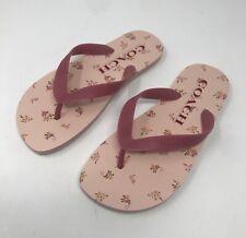 Brand New Coach Women's Size 6 Pink Floral Rubber Sandal Flip Flops