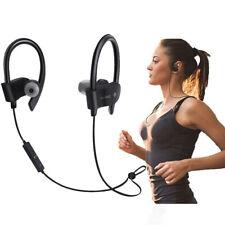 Black Headset Wireless Smart 4.1 Sweatproof Sport Gym Stereo Headphone Earphone