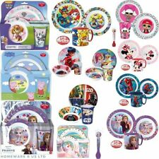 BOYS GIRLS KIDS BABYS TODDLERS 3 PIECE DINNER BREAKFAST SETS MATCHING CHARACTORS