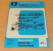 SIMCA Aronde 1200 Flash 1300 Simca-Matic Reparatur Buch Reparaturanleitung B47