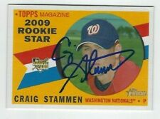 Craig Stammen Autographed 2009 Topps Heritage Signed Card #547 Nationals