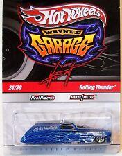 2011 Hot Wheels WAYNE'S GARAGE #24 * ROLLING THUNDER * BLUE REG FUNNY CAR panel