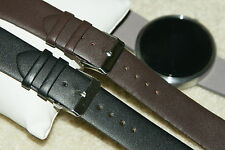 Compatible with Moto 360 Black Brown Leather Strap band 22mm tool bar