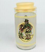 A CHRISTMAS CAROL Ebenezer Scrooge Charles DICKENS Glass Lid Canister Vintage