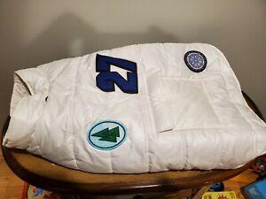 "Old Navy Dog Supply Co.Pet White Puffer Coat Winter Coat Size M 17""-19"""