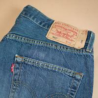 Vintage Levi 501 Jeans Blue Straight Button Fly Unisex (PatchW34L34) W 33 L 32