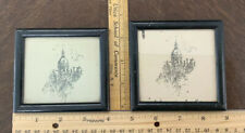 Lot Of 2 Vintage Silhouette Pictures Framed