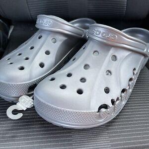 NEW CROCS BAYA Clogs Slip On Shoes Graphite 10126-014 Mens Size 12