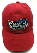 2004 MLB WORLD SERIES red adjustable cap / hat