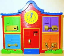 Learning Resources Latch & Learn School House, Fine Motor Toy, 3 pieces