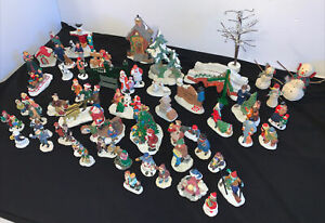 LOT OF 57 Christmas Lemax Lefton & Unbranded  Accessories Figurines Animal AS IS