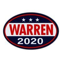 Oval Shaped Magnet - Elizabeth Warren President 2020 - Magnetic Bumper Sticker
