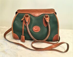 Dooney & Bourke Green & Brown Leather Vintage Purse  - Classic!