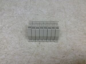 Entrelec BADL Grey Gray Wire Terminal End Cap Barrier Lot of 8