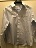 Men's Brooks Brothers Non-Iron Blue Stripe Button Down Dress Shirt 17 1/2 x 16