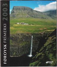 Faroe Islands Denmark Official Year Set 2003 Mnh