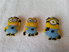 MINIONS shoe charms/cake toppers!! Set of 3!  FAST USA SHIPPING!