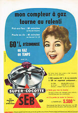 PUBLICITE ADVERTISING  1959   SEB   super  cocotte- minute
