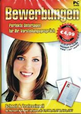 Bewerbungen - NEU / OVP - Perfekte Unterlagen - PC Software CD Rom - Word