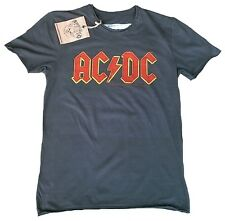 AMPLIFIED Official AC/DC ACDC Logo Rock Star Vintage Designer T-Shirt g.M 48
