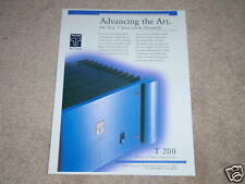 Threshold T 200 Amplifier Ad,High End Monster! Class A