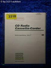 Sony Bedienungsanleitung CFD E75 /E70L /E75L /E77L Cassette Corder (#3318)