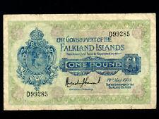 Falkland Islands:P-5,1 Pound,1938 * King George VI * F-VF *