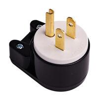 NEMA LK7515PT 5-15P Grounding Locking Plug, 15A 125V AC, 2 Pole 3 Wire Bend#