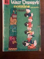 DELL COMICS - WALT DISNEYS COMICS AND STORIES #186 - MARCH 1956 - POOR  (M6A)