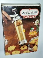 """NEW OLD STOCK"" MARCATO, ITALY ATLAS METAL COOKIE PRESS 20 DISCS, 4 TIPS #178306"