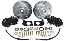 1964-66 FORD FAIRLANE DISC BRAKE CONVERSION KIT - DELUXE - BLACK CALIPER
