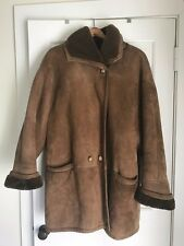 GENUINE SHEARLING LAMBSKIN FUR LUXURIOUS COAT JACKET SZ XL