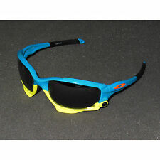 Oakley Racing Jacket Sunglasses Fathom Pacific Blue/Black Iridium/Clear Vented