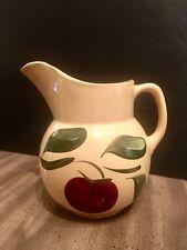 "Vintage WATT Pottery APPLE  3 Leaf Pattern PITCHER ~ #16 ~ 7"" inch"