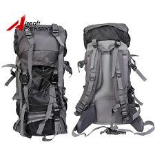 60L Large Outdoor Hiking Camping Mountaineering Travel Backpack Rucksack Bag BK