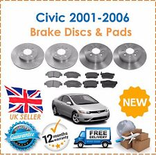 For Honda Civic 1.6 EP2 Sport 2001-2006 Front & Rear Brake Discs And Pads Set